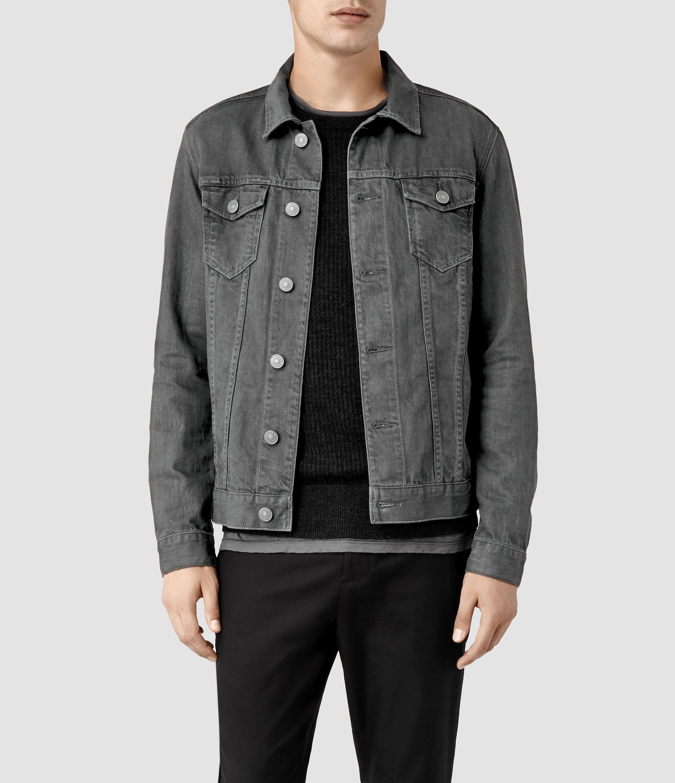 Allsaints Setsu Denim Jacket in Gray for Men