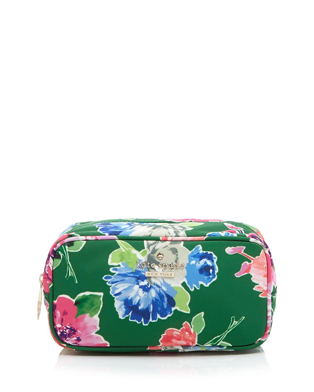 53713d427b1b Lyst - Kate Spade Cosmetic Case - Classic Nylon Ezra in Green