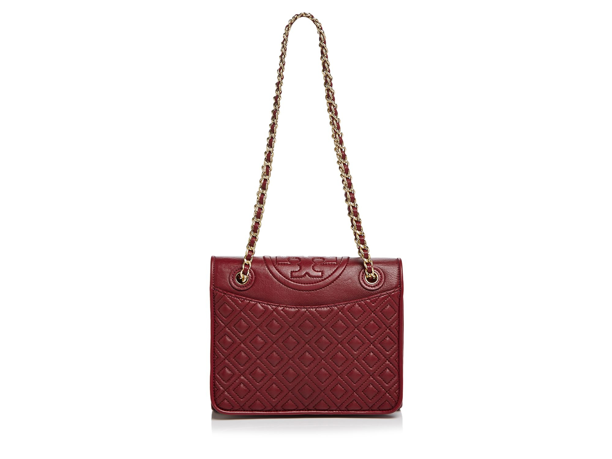 Tory burch Fleming Medium Shoulder Bag in Red | Lyst