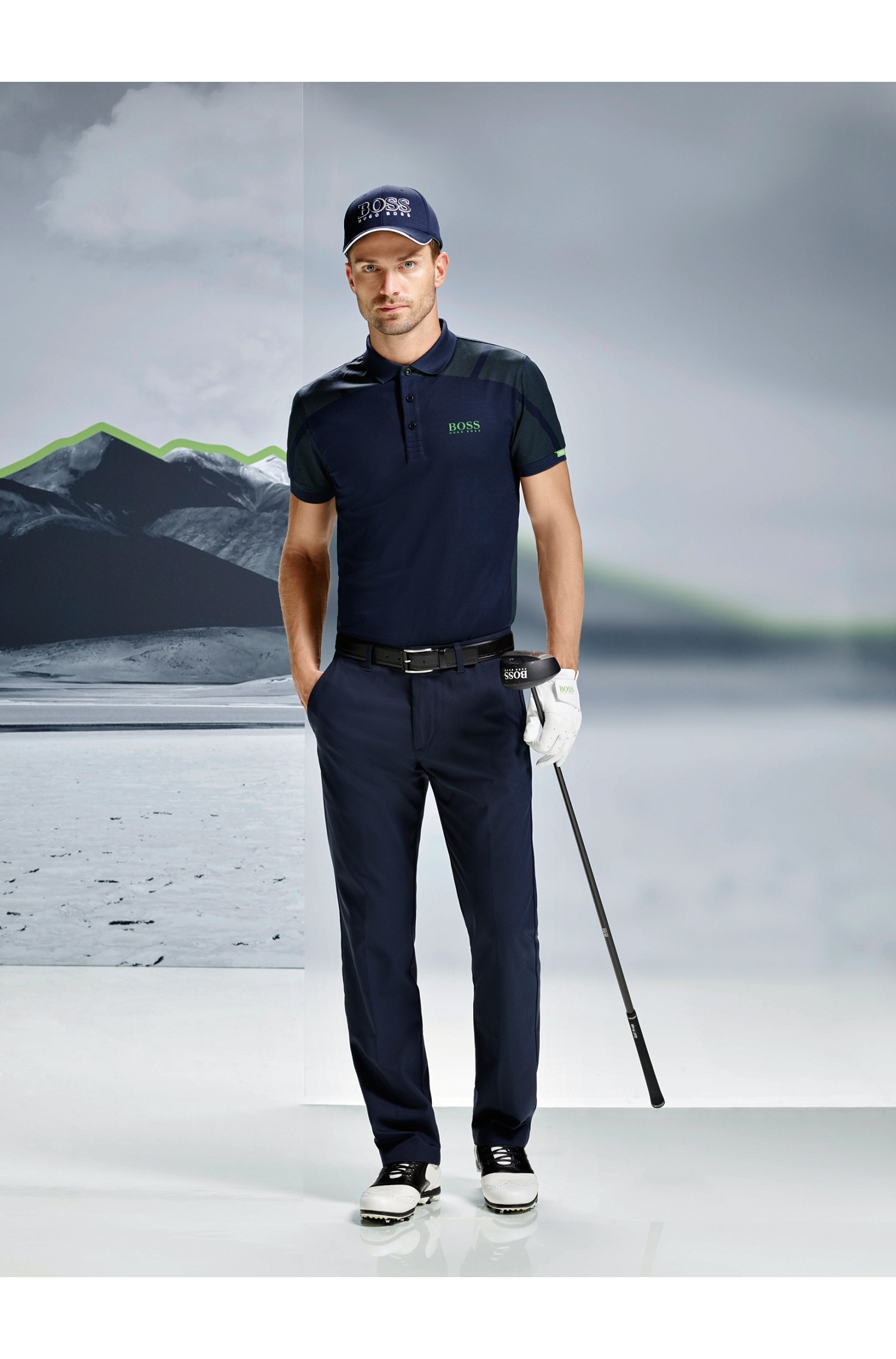 Lyst Boss Green Golf Polo Shirt In Cotton Blend Paddy Mk 2 In