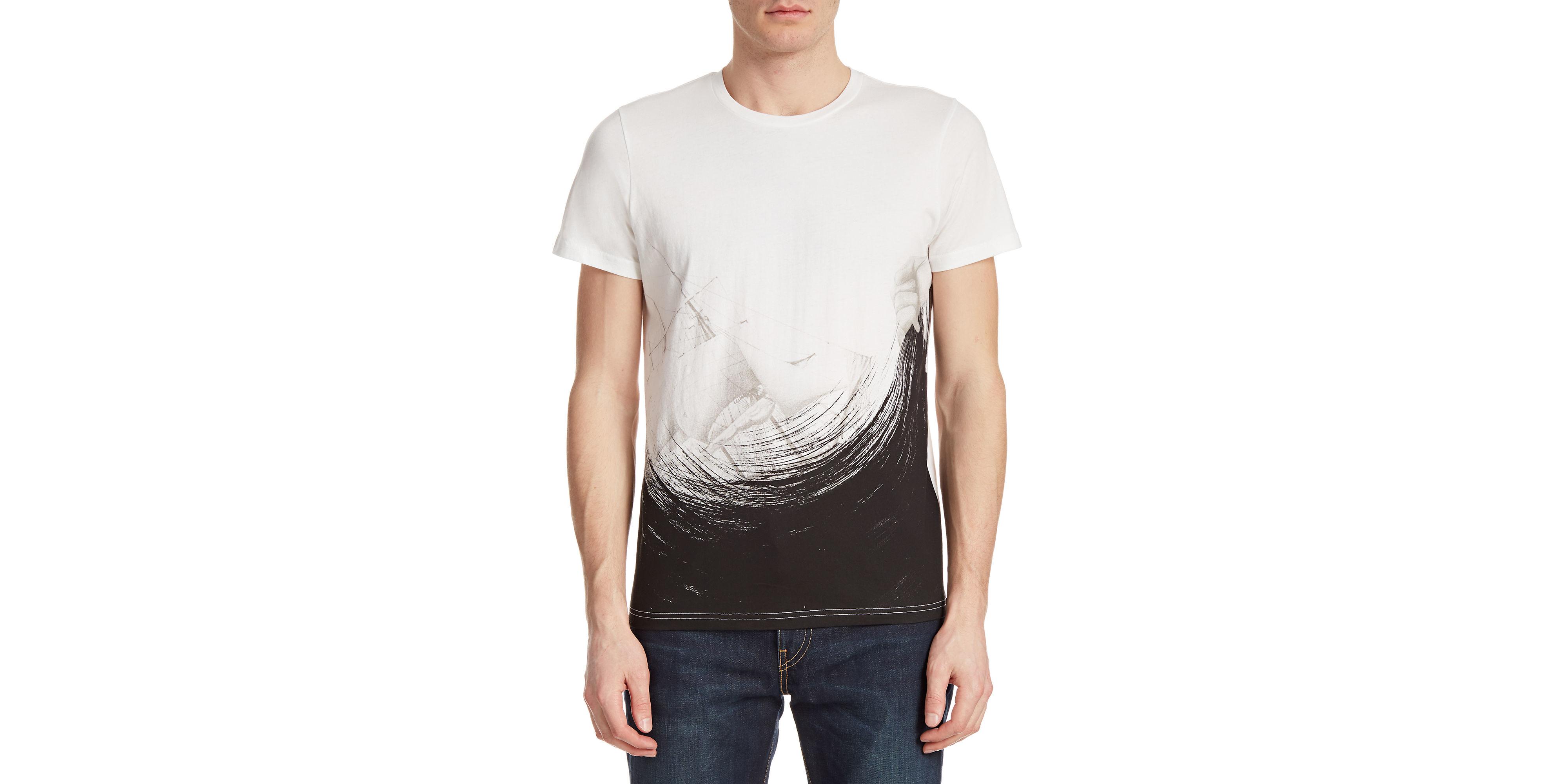 Tee library Brushstroke Graphic T-shirt in White for Men ...
