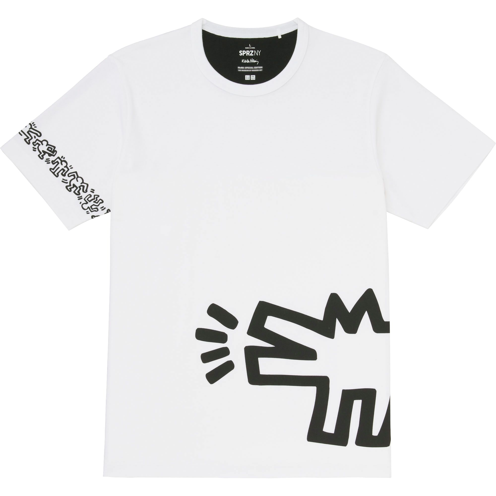 uniqlo men sprz ny graphic t shirt keith haring in white. Black Bedroom Furniture Sets. Home Design Ideas