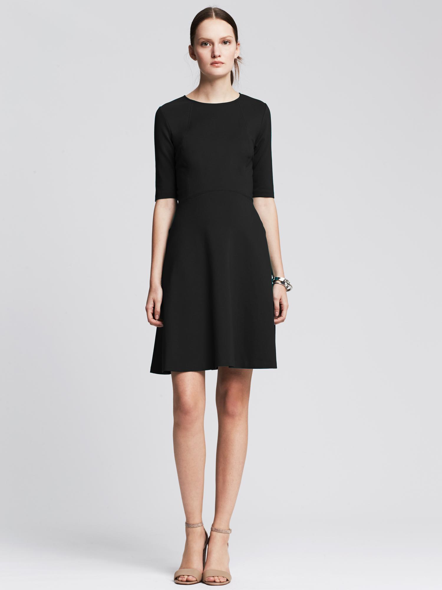 Banana Republic Ponte Back Cutout Dress In Black Gray Lyst