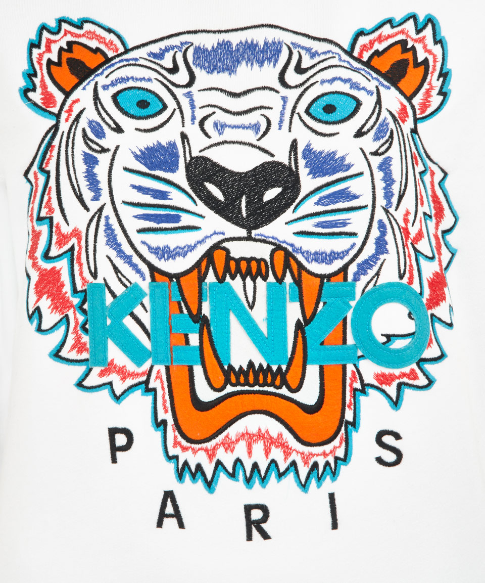 Kenzo Tiger Sweatshirt In White Lyst