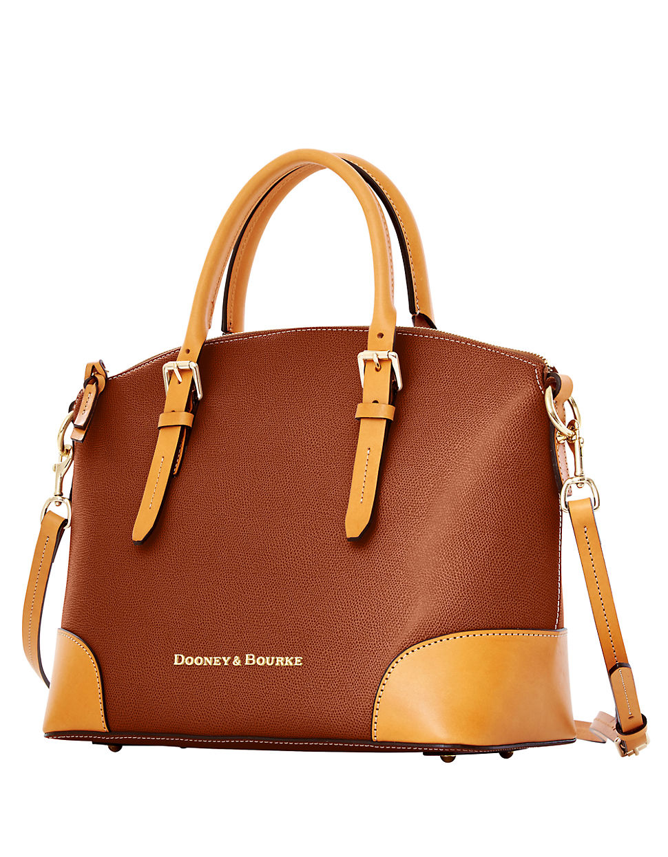 Lyst - Dooney & Bourke Claremont Leather Dome Satchel Bag ...