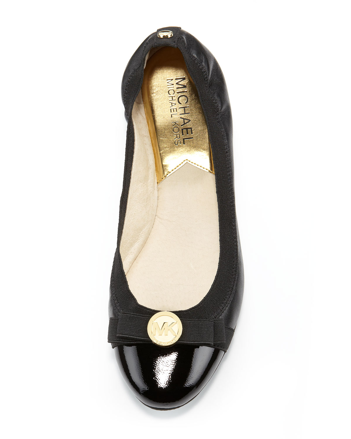 michael kors michael dixie captoe ballet flat in black lyst. Black Bedroom Furniture Sets. Home Design Ideas