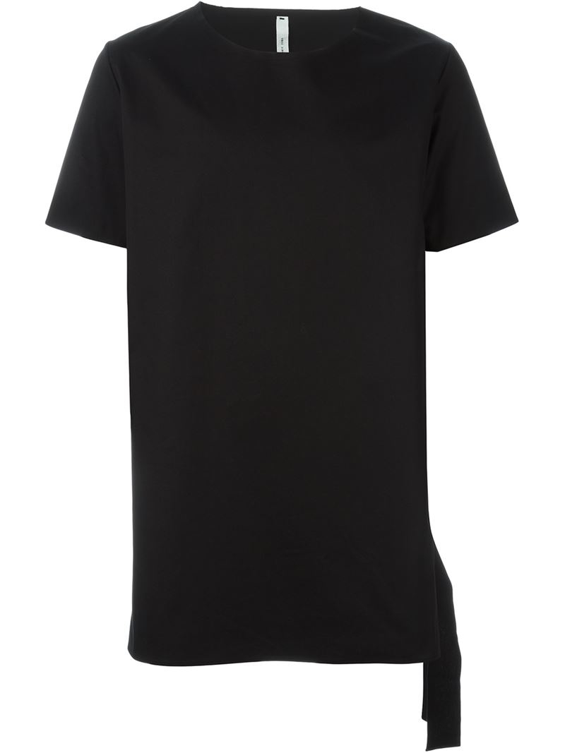 Lyst Damir Doma Side Tie T Shirt In Black For Men