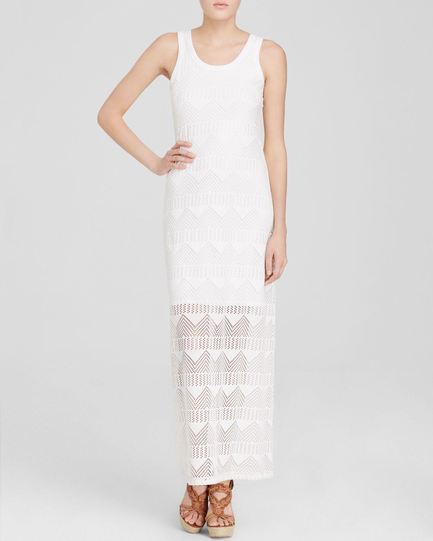 Crochet Maxi Dress : Karen kane Crochet Maxi Dress in White (Off White) Lyst