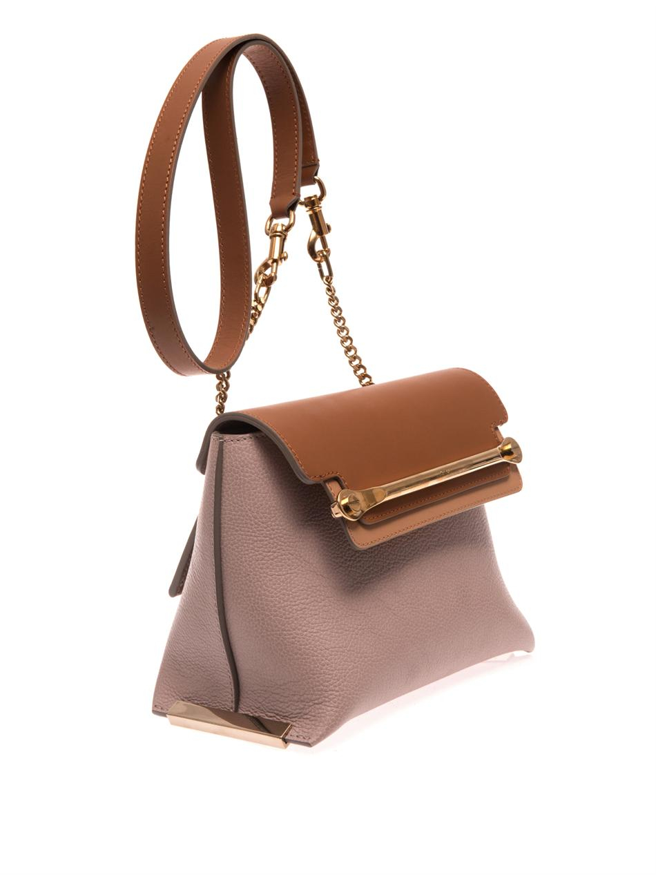 chloe red bag - Chlo�� Clare Tricolour Leather Bag in Brown | Lyst