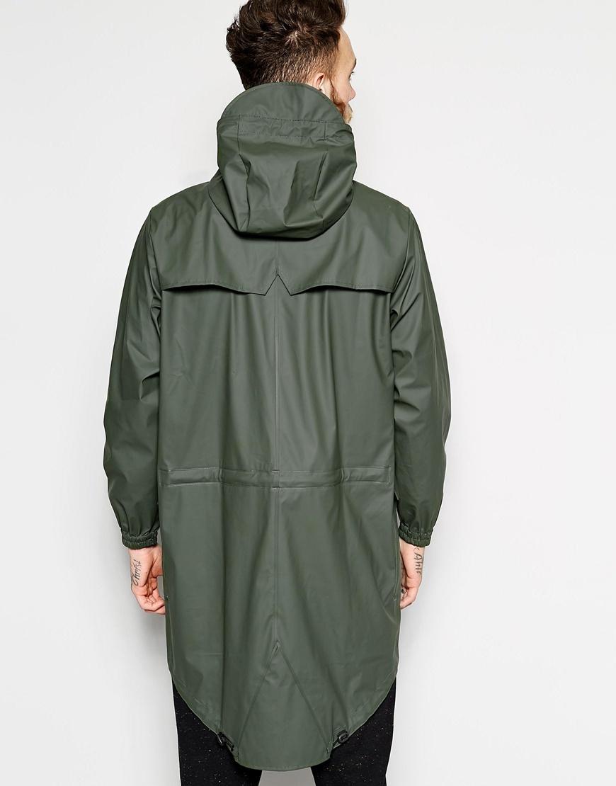 Rains Waterproof Parka in Green for Men | Lyst