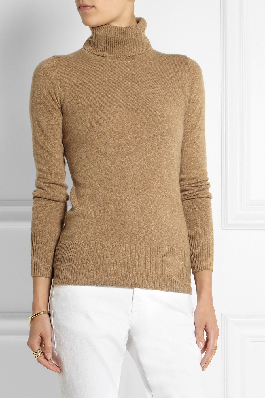 Lyst - J.Crew Cashmere Turtleneck Sweater in Blue 81bbcc547bf8