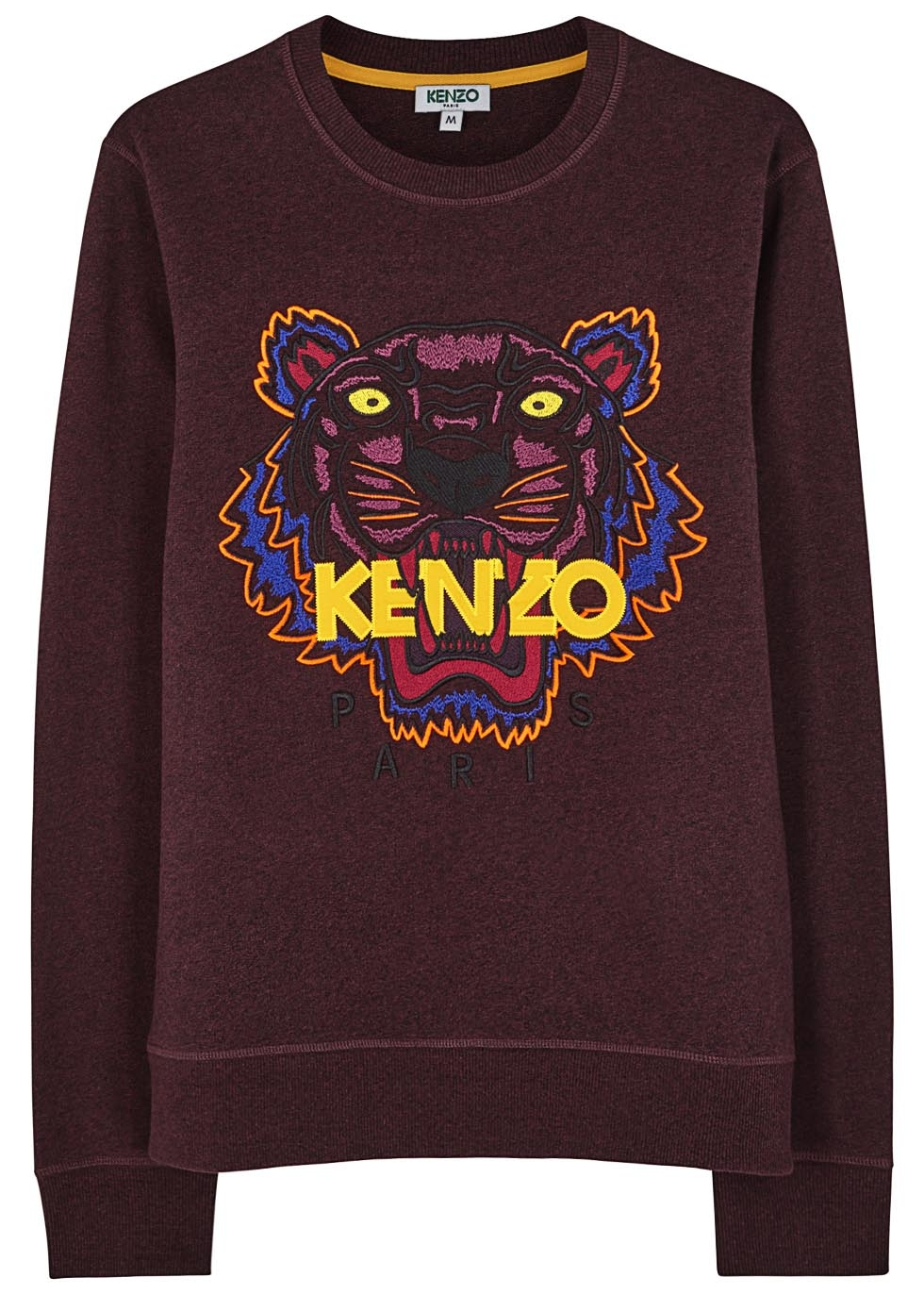 a8c28e2e244c5 KENZO Burgundy Embroidered Tiger Sweatshirt in Purple for Men - Lyst