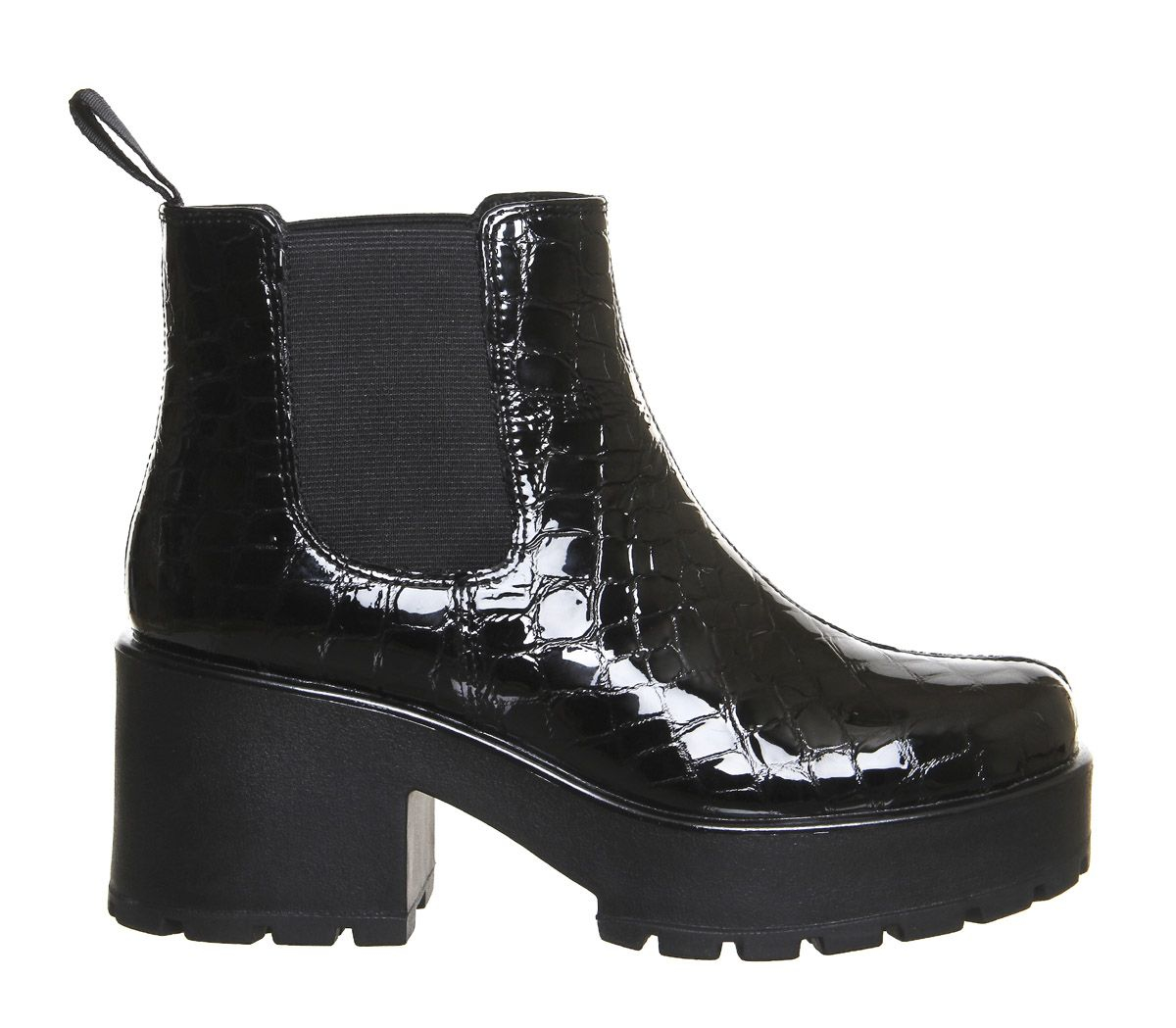 vagabond amina black leather chelsea ankle boots in black. Black Bedroom Furniture Sets. Home Design Ideas