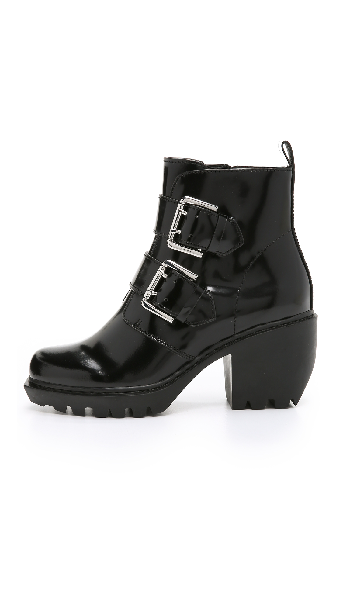 Opening Ceremony Patent Leather Buckle Booties cheap great deals TXyXBPj8