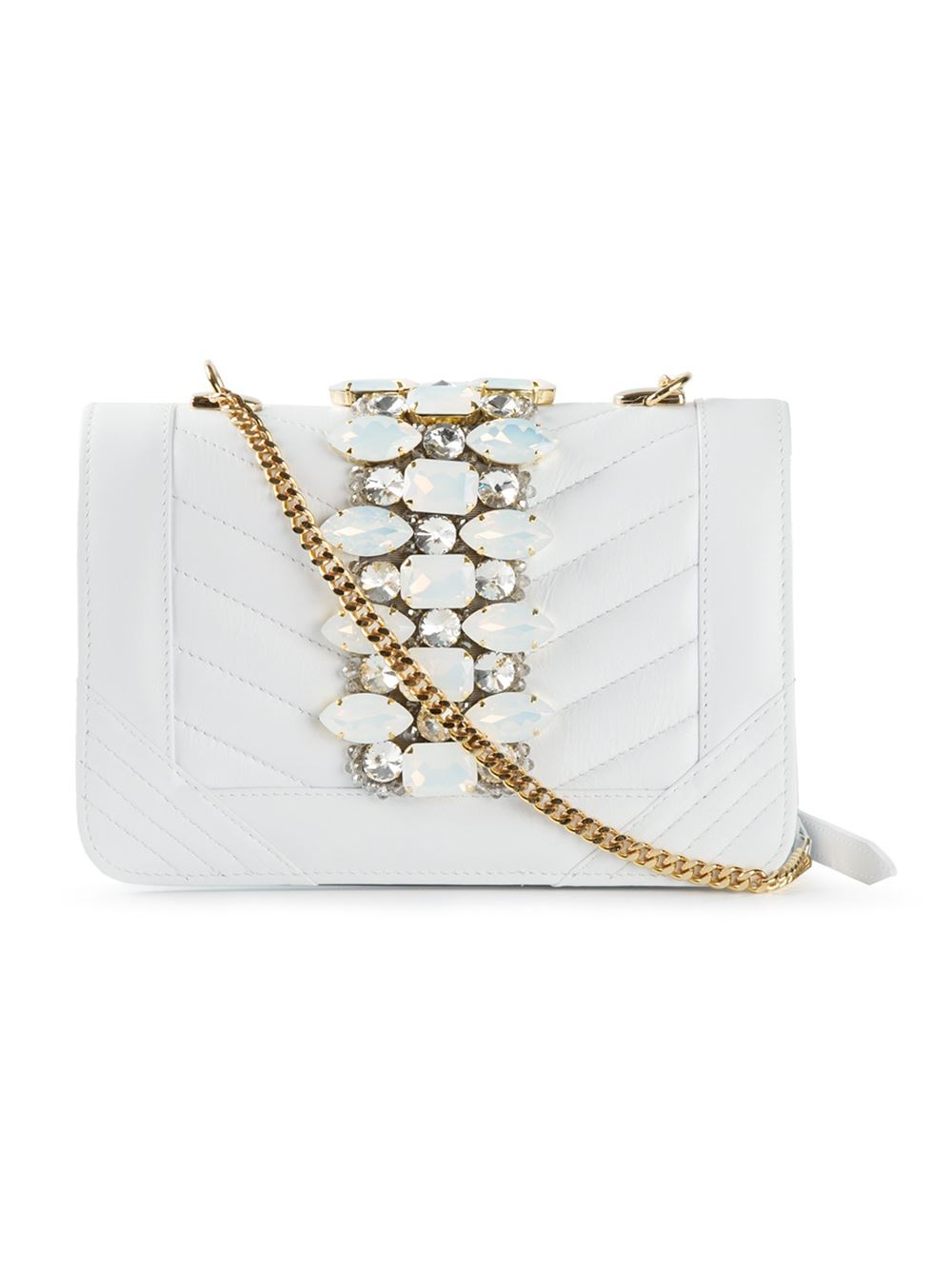 Lyst - Gedebe Bibi Leather Cross-Body Bag in White 4445e057006cd