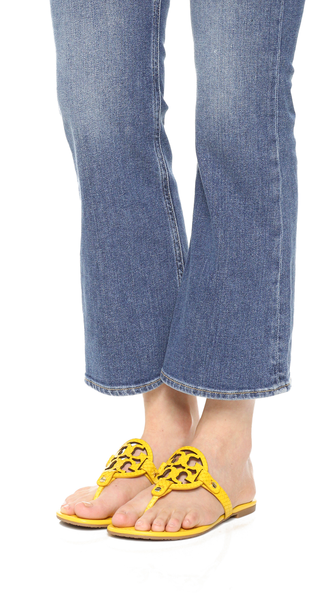 Lyst Tory Burch Miller Sandals In Yellow