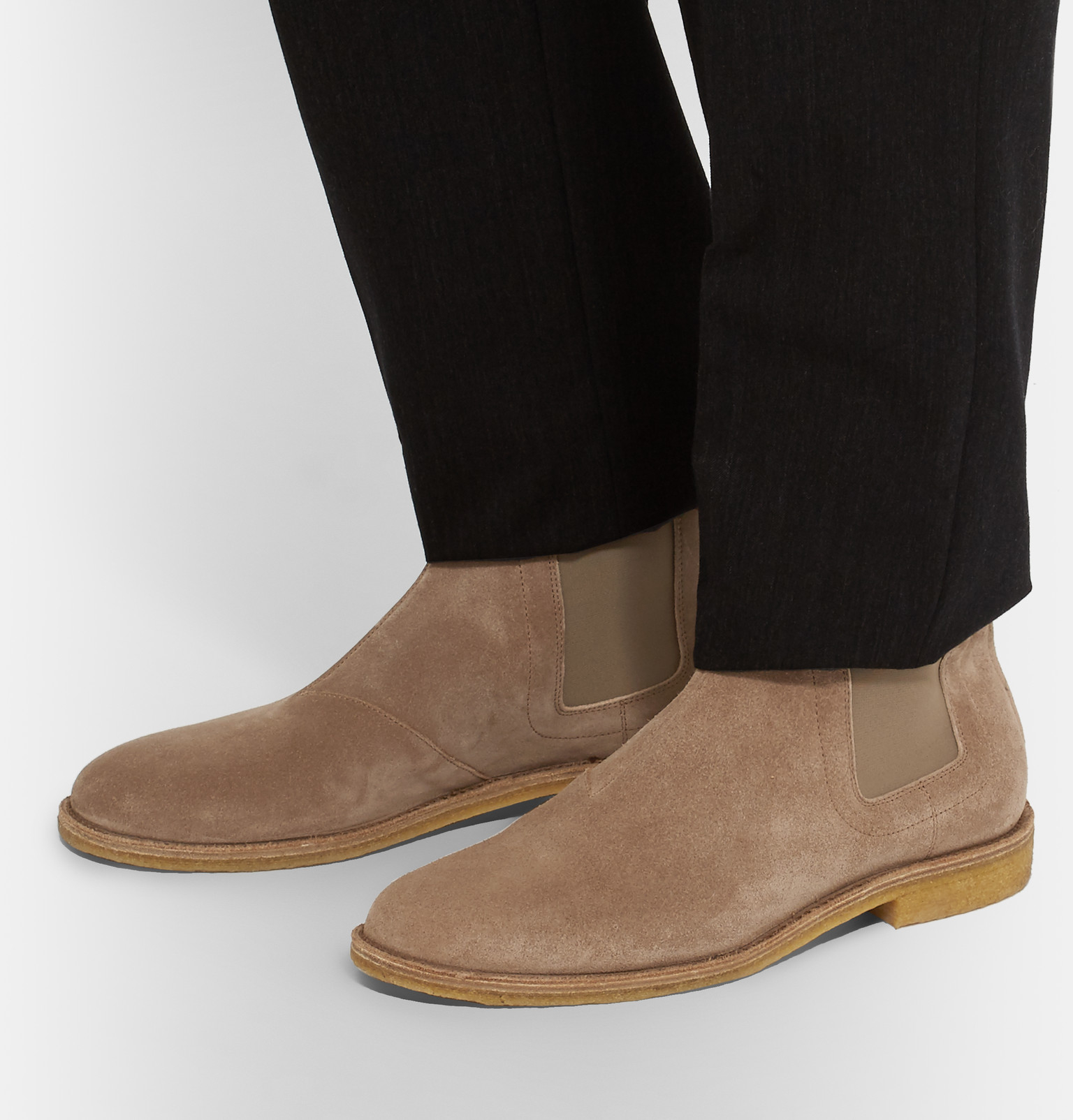 Elegant Bottega Veneta Crepe Sole Chelsea Boots In Brown  Lyst