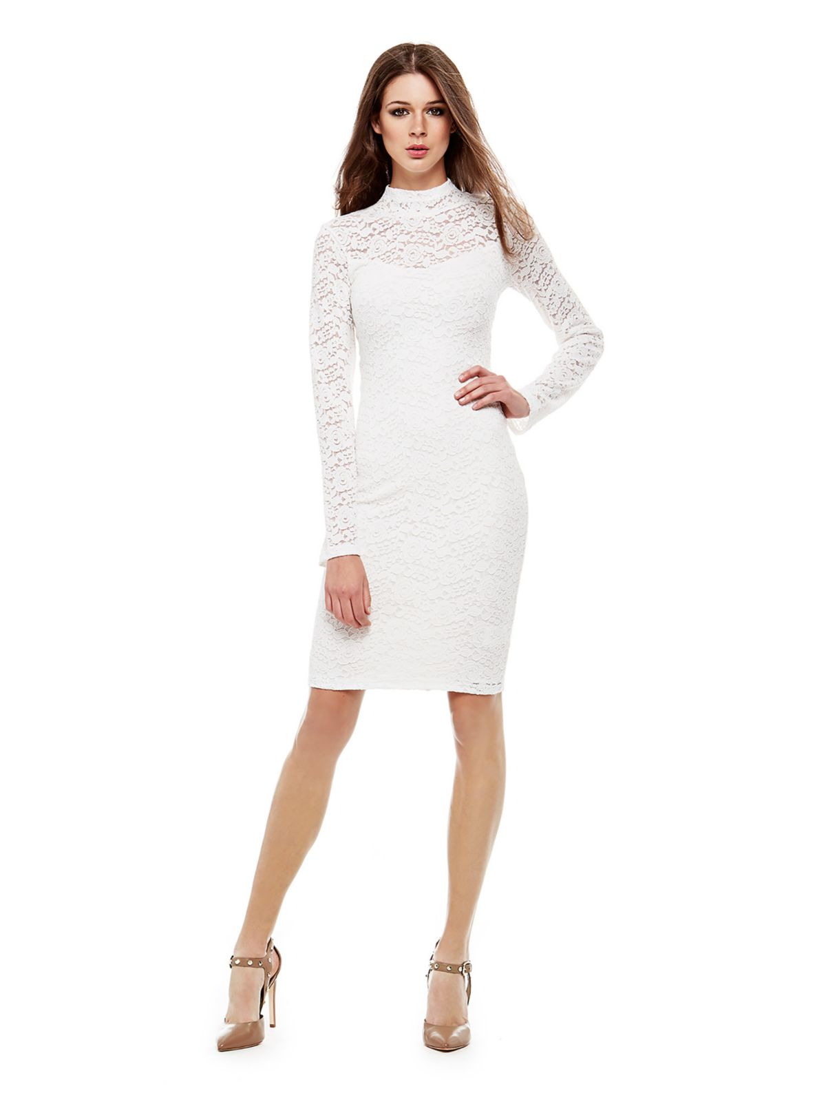 Guess Marciano Lace Dress In White Lyst