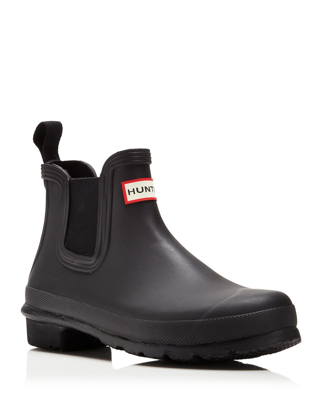 HUNTER Original Chelsea Rain Boots in Black