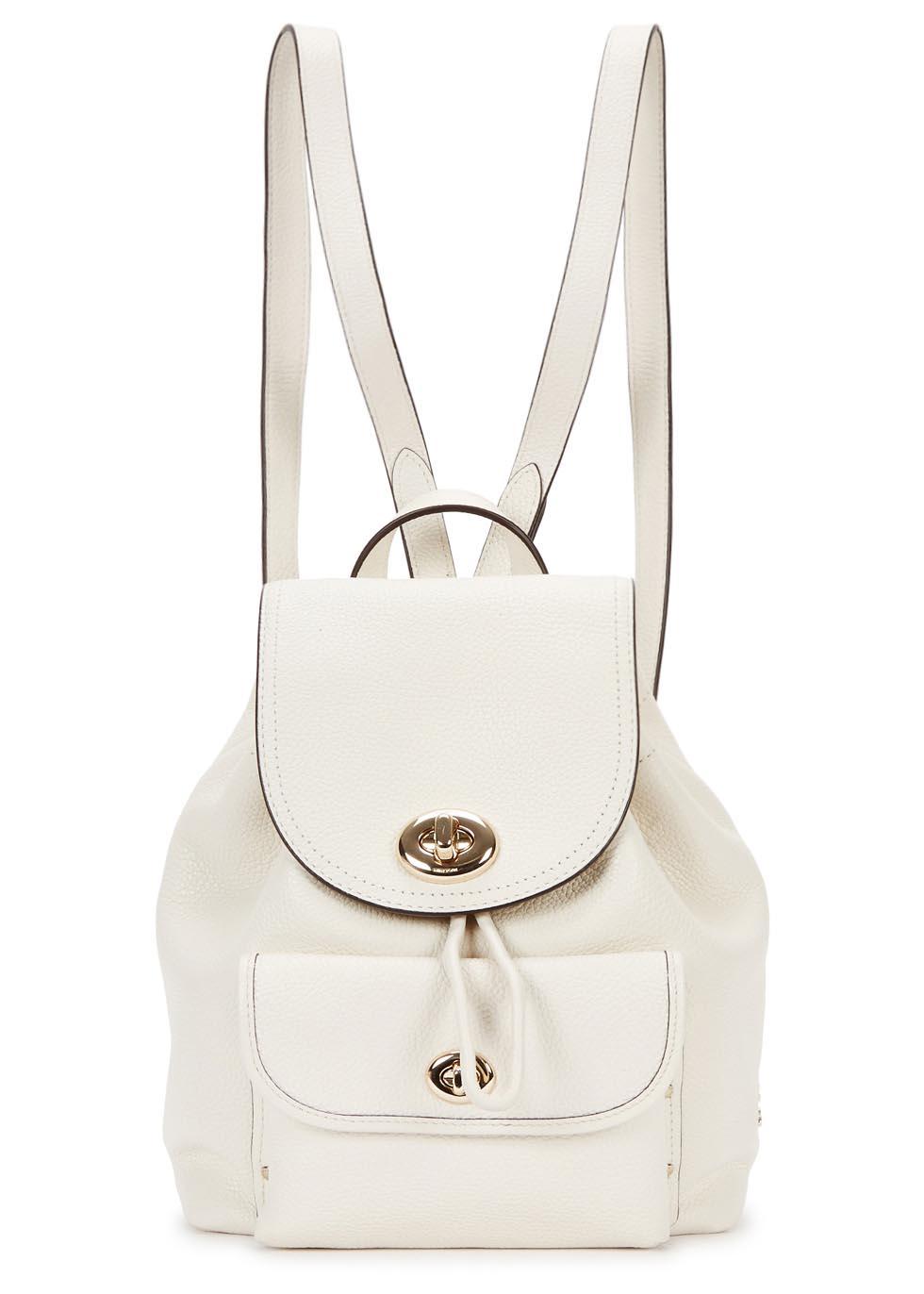 47f51ed832 ... sale coach mini cream leather backpack lyst 2d1b6 47cb0