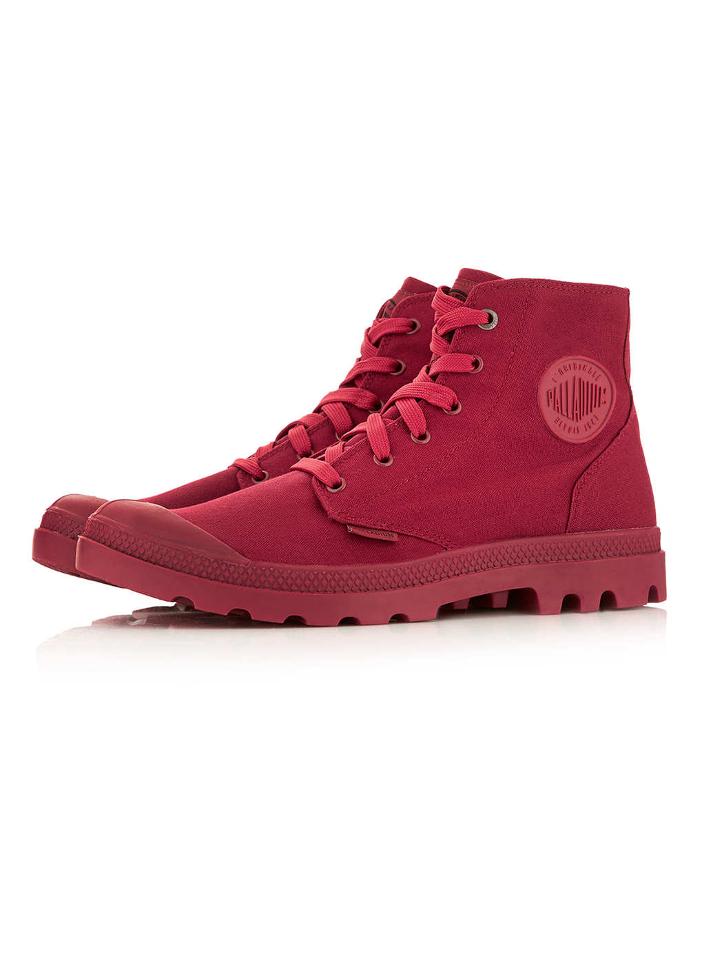Palladium Mono Chrome Burgundy Boots In Red For Men Lyst