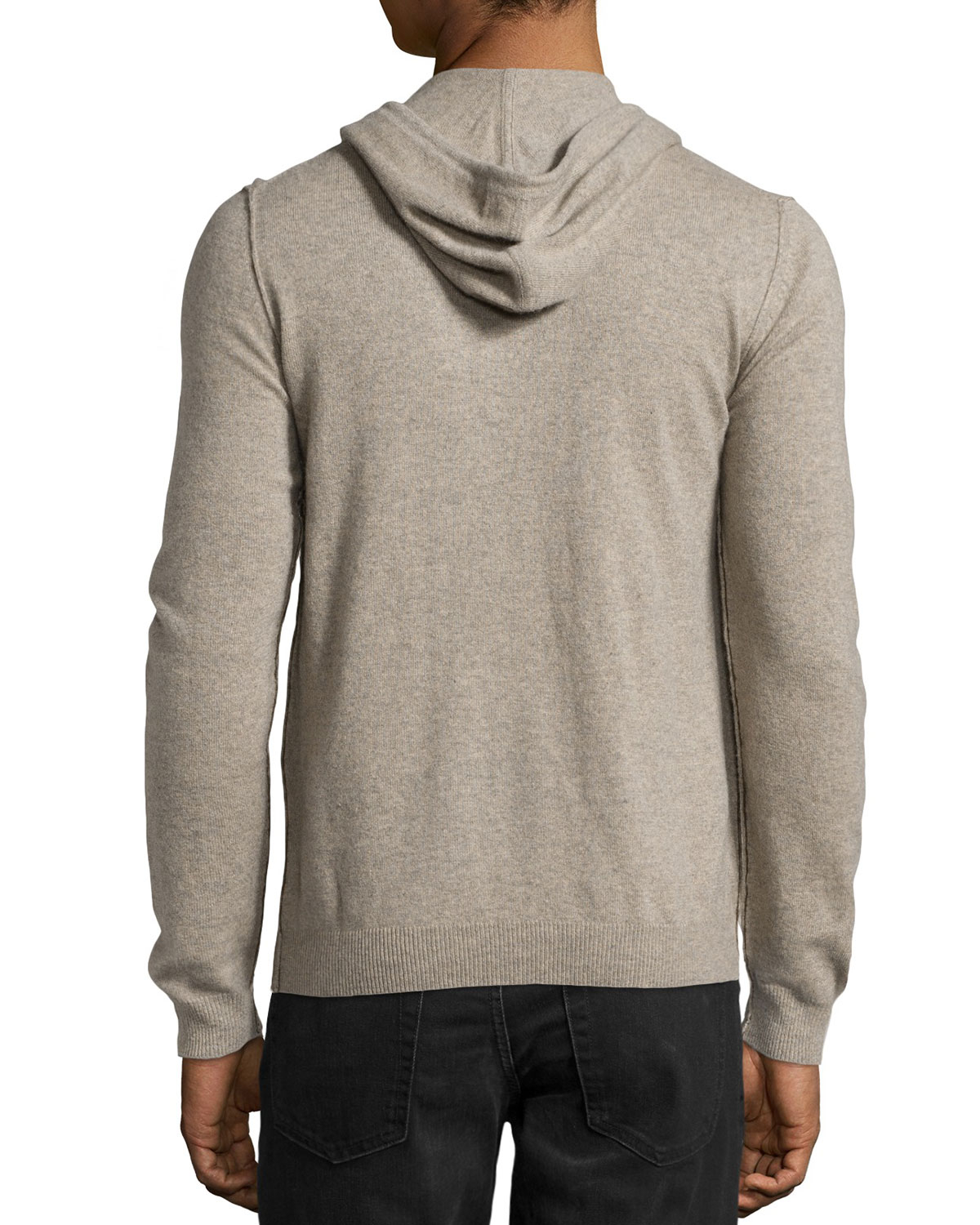 neiman marcus cashmere pullover hoodie in natural for men. Black Bedroom Furniture Sets. Home Design Ideas