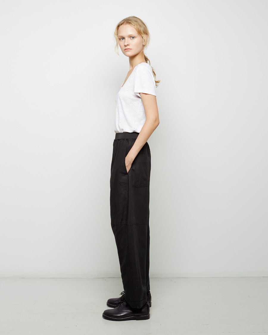 Lyst mm6 by maison martin margiela cotton twill trouser for Maison de margiela
