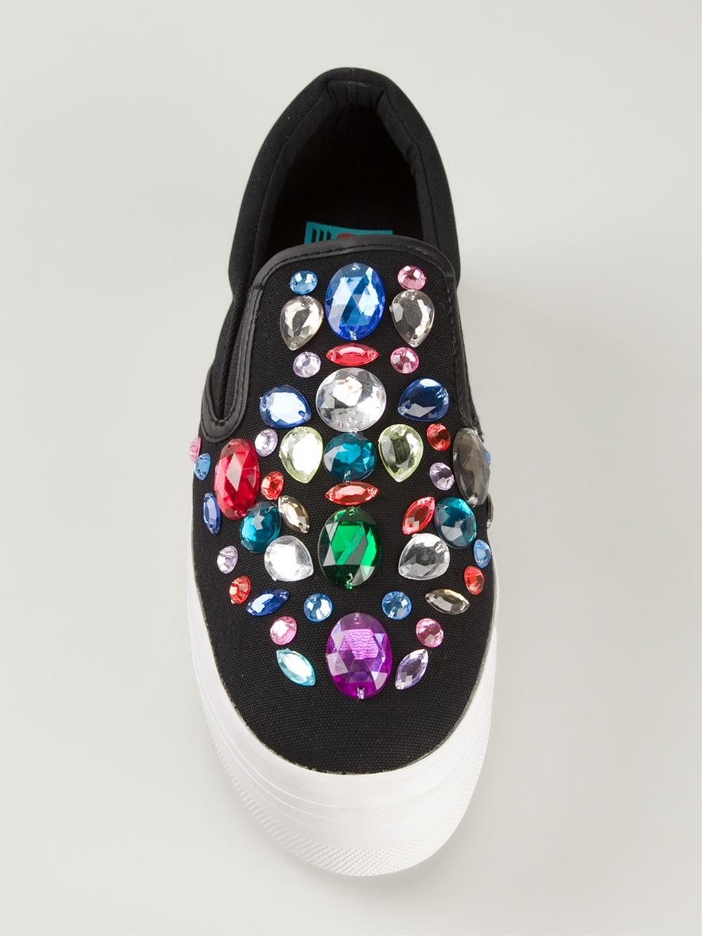 Lyst Jeffrey Campbell Embellished Slip On Sneakers In Black