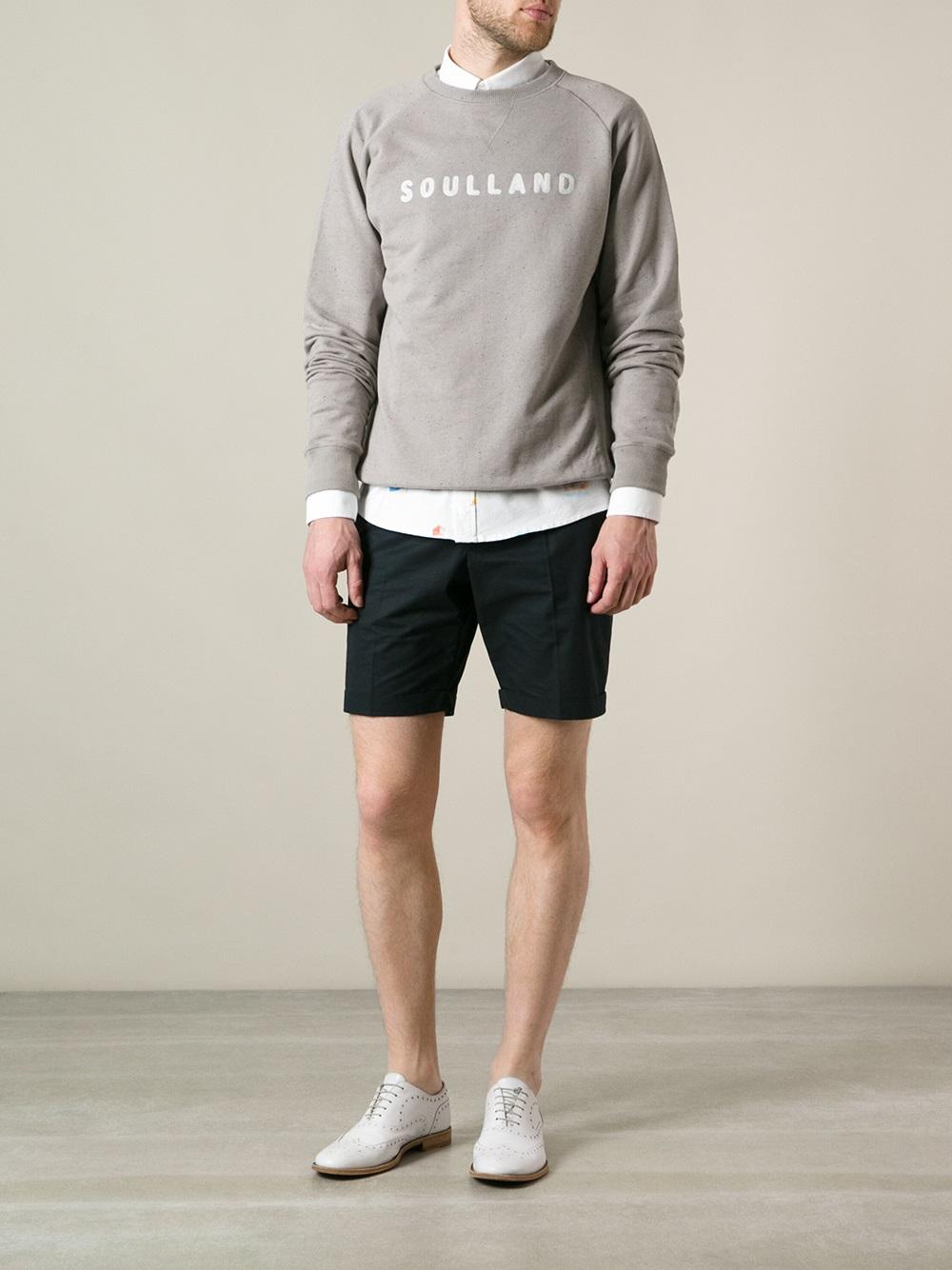 Soulland Capitals Sweatshirt in Grey (Grey) for Men