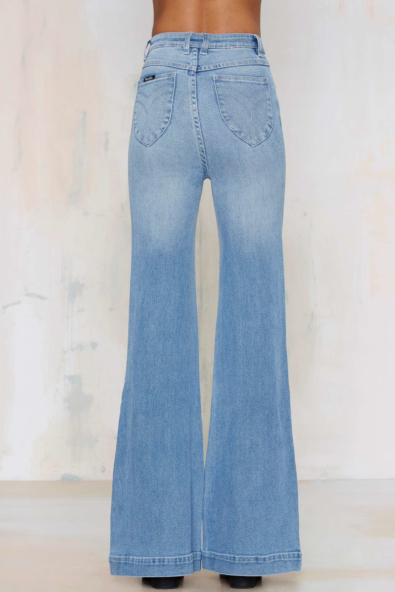 Nasty Gal Rolla S Eastcoast High Waisted Flare Jeans In