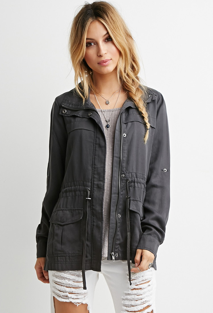 Forever 21 Classic Utility Jacket Youu0026#39;ve Been Added To The Waitlist in Gray | Lyst
