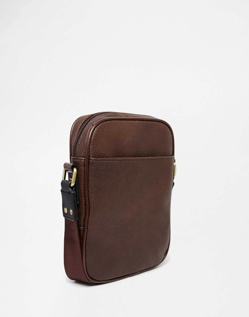 Ted baker Megga Embossed Flight Bag in Brown for Men | Lyst