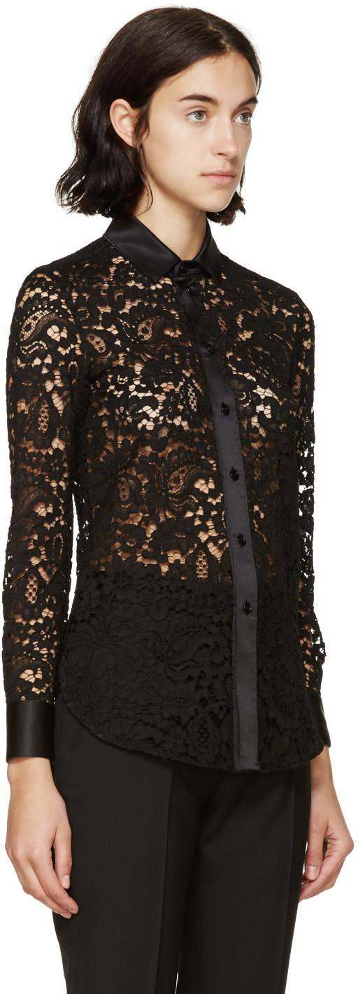 72d59db6de3 Saint Laurent Black Lace Shirt