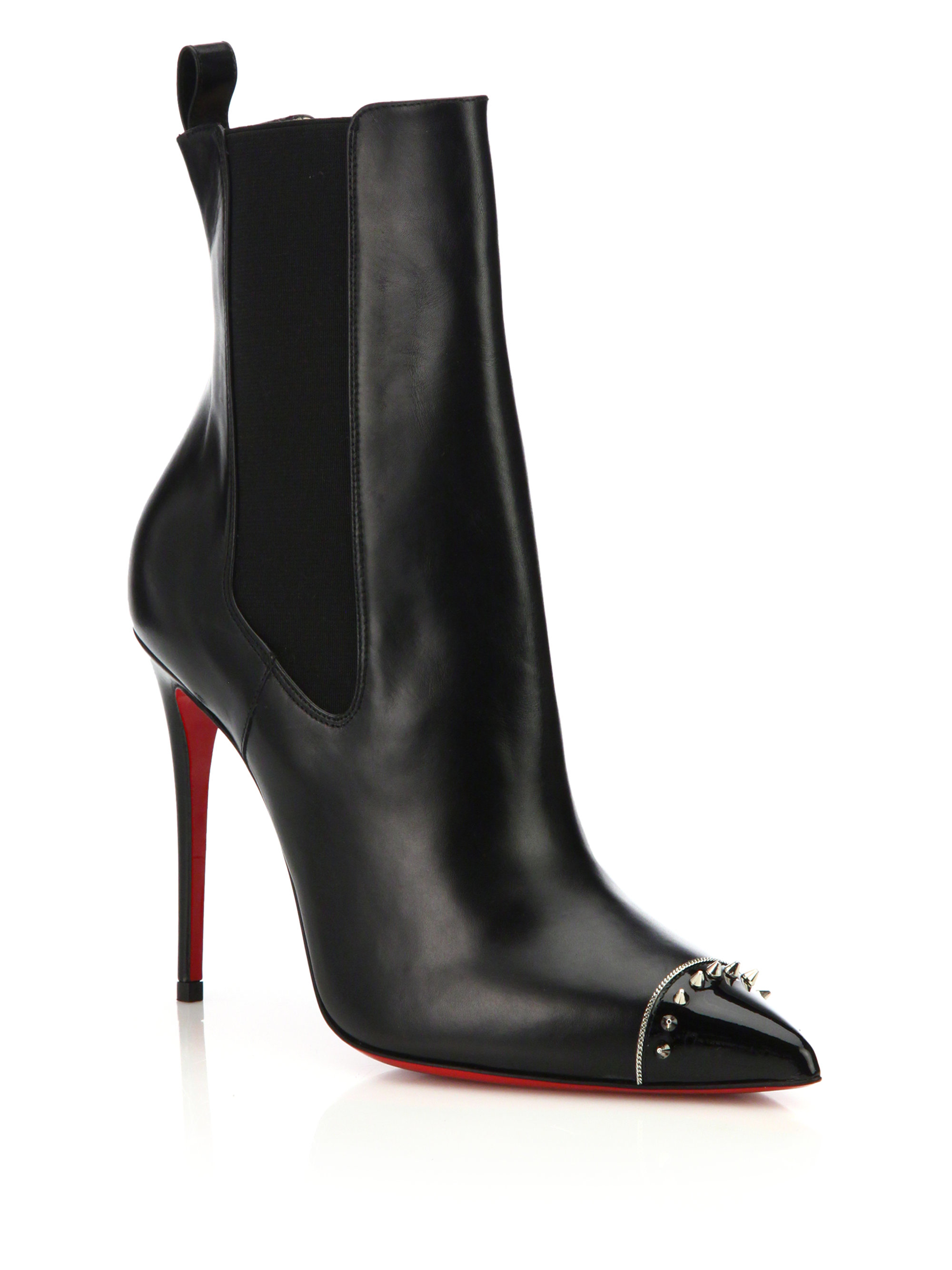 christian louboutin round-toe booties Black suede | cosmetics ...