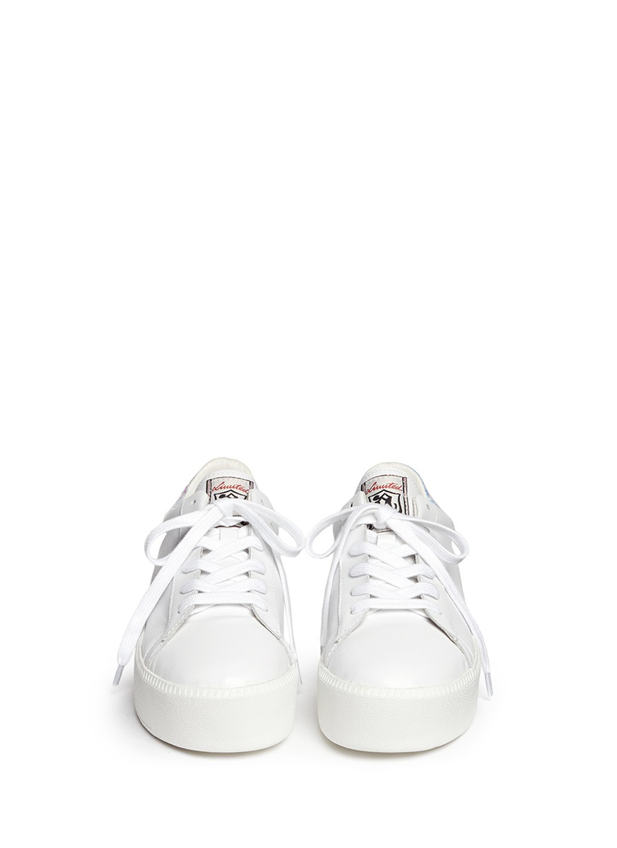 59c415a6c88d6f Lyst - Ash  cult  Holographic Trim Leather Platform Sneakers in White
