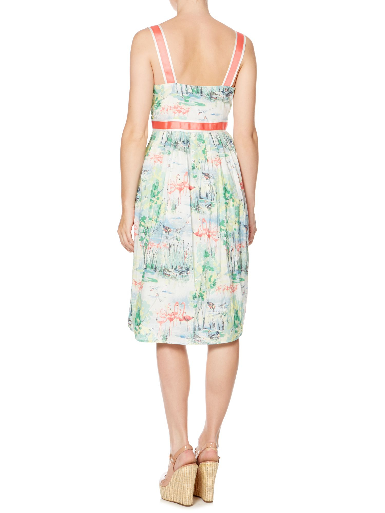 Dickins & jones Flamingo Print Dress in Multicolor (Multi ...