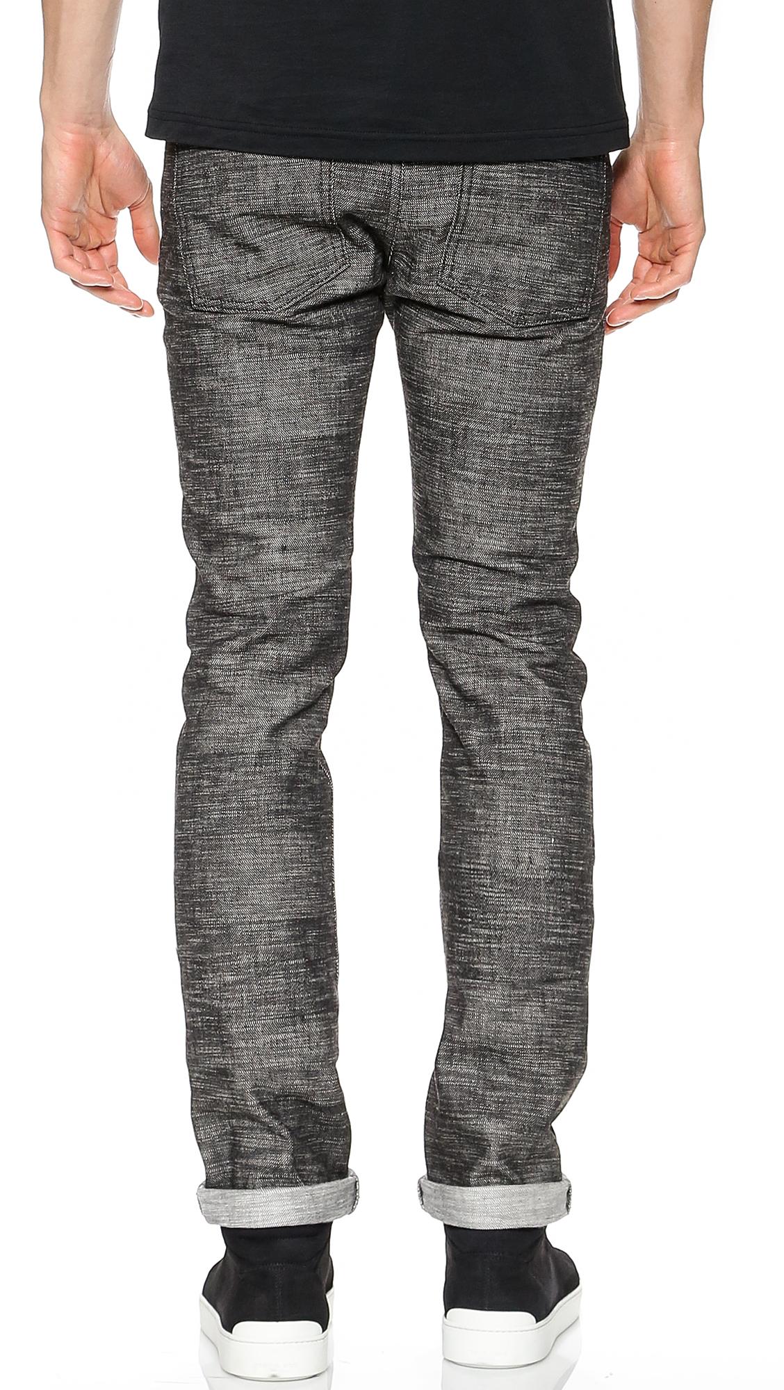 Naked & Famous Skinny Guy Frankenstein 3 Jeans in Grey for Men