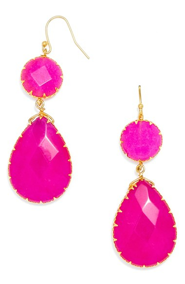 loop dambeck round pair of plated earrings copy fuschia isa product earring with small silver