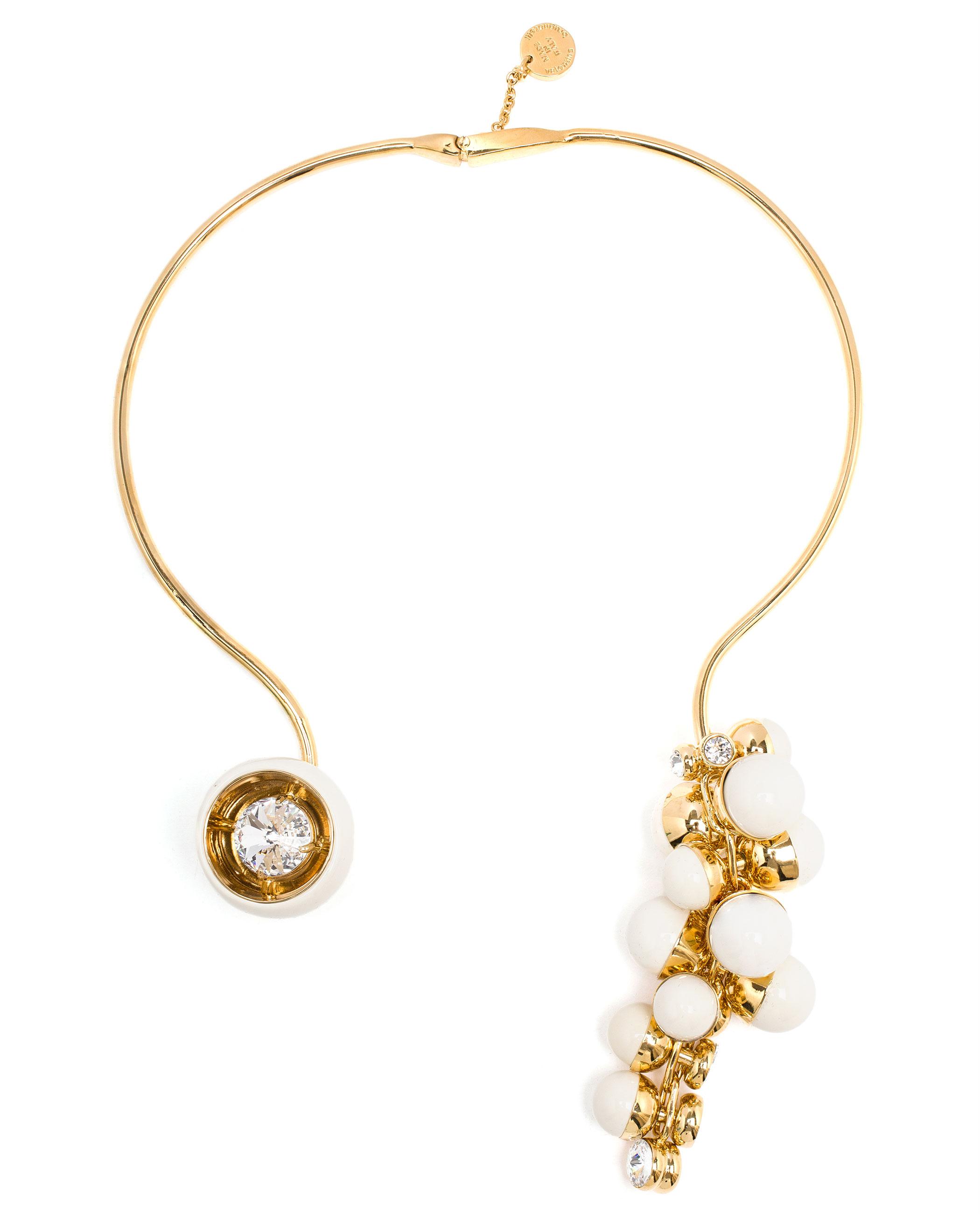 Valentina Brugnatelli Resin And Swarovski Necklace in White