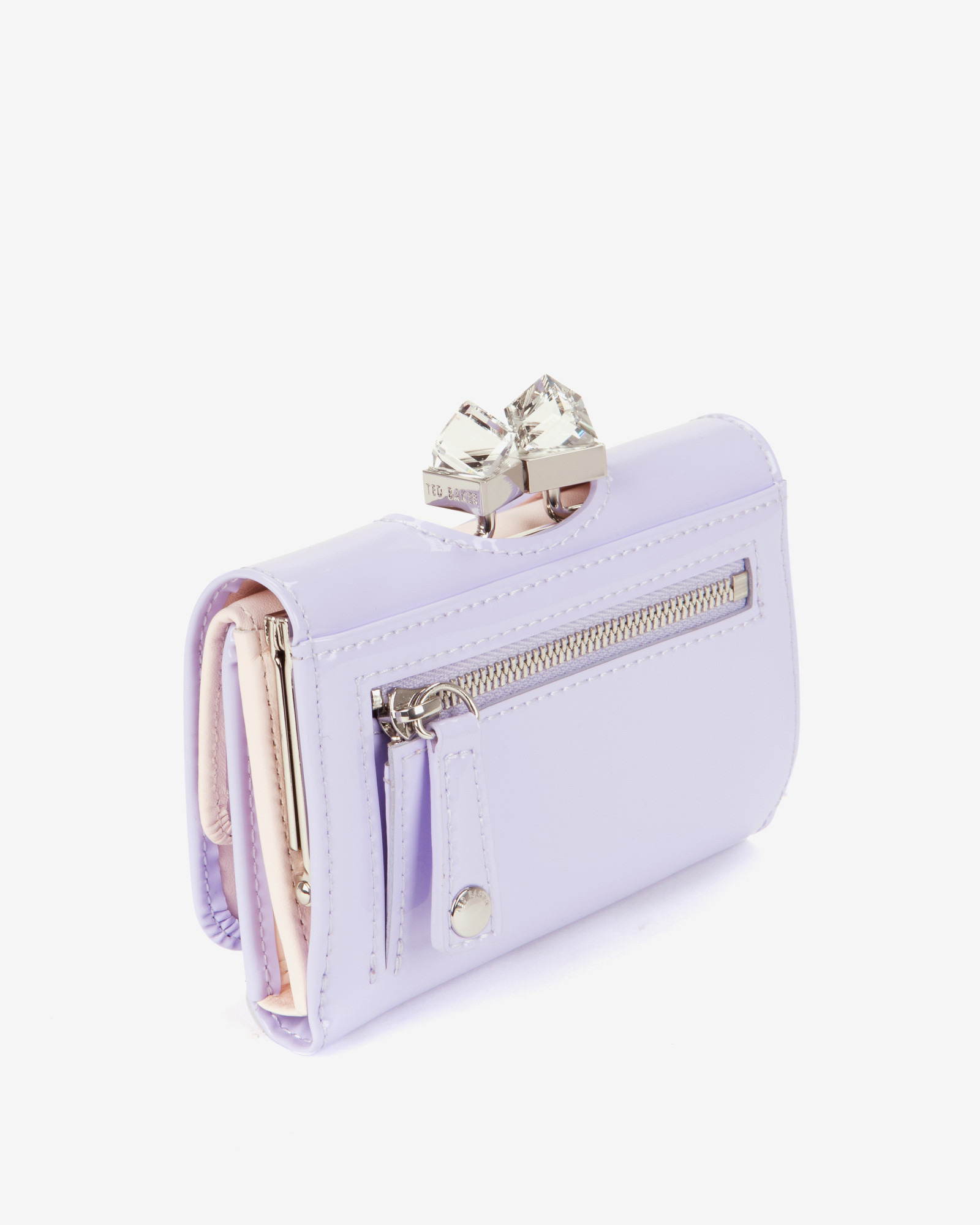 0ce64a280c7c89 Lyst Ted Baker Small Patent Crystal Frame Purse In Purple. Ted Baker Womens  Accessories Kane Oriental Blossom Small Purse Light Grey