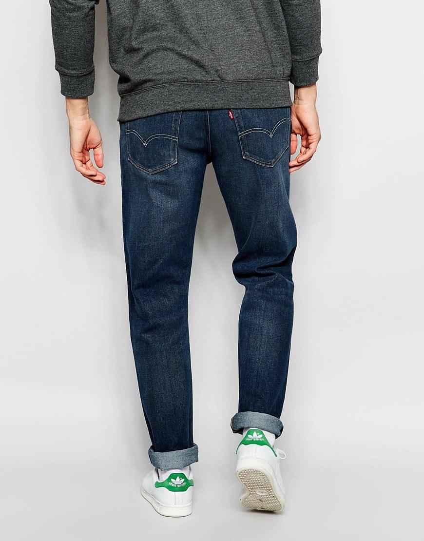 Levi's Denim Levi's Jeans 522 Slim Tapered Fit Littlefield Dark Worn Wash in Blue for Men