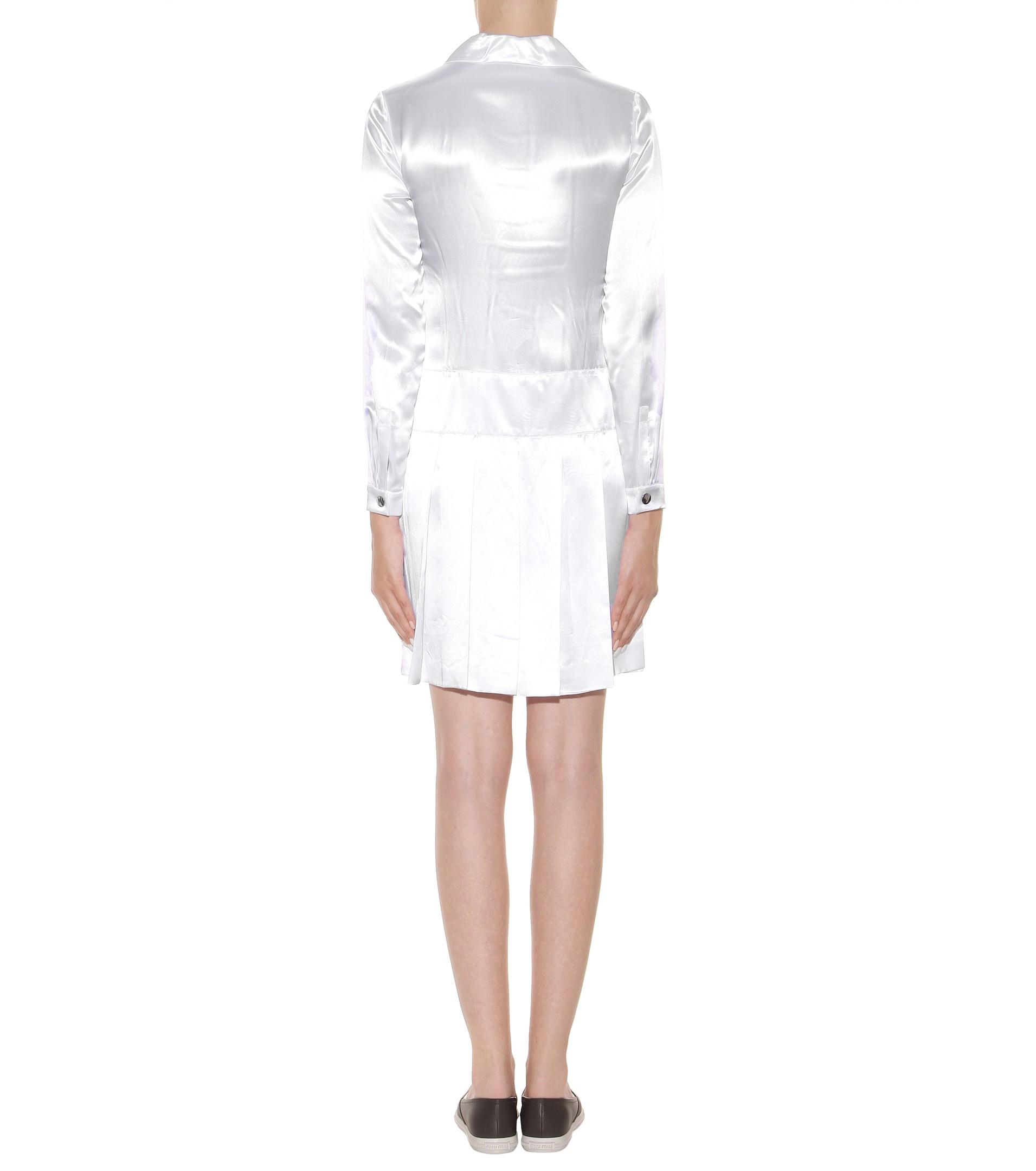 Satin and lace dress Miu Miu BhUzDbr