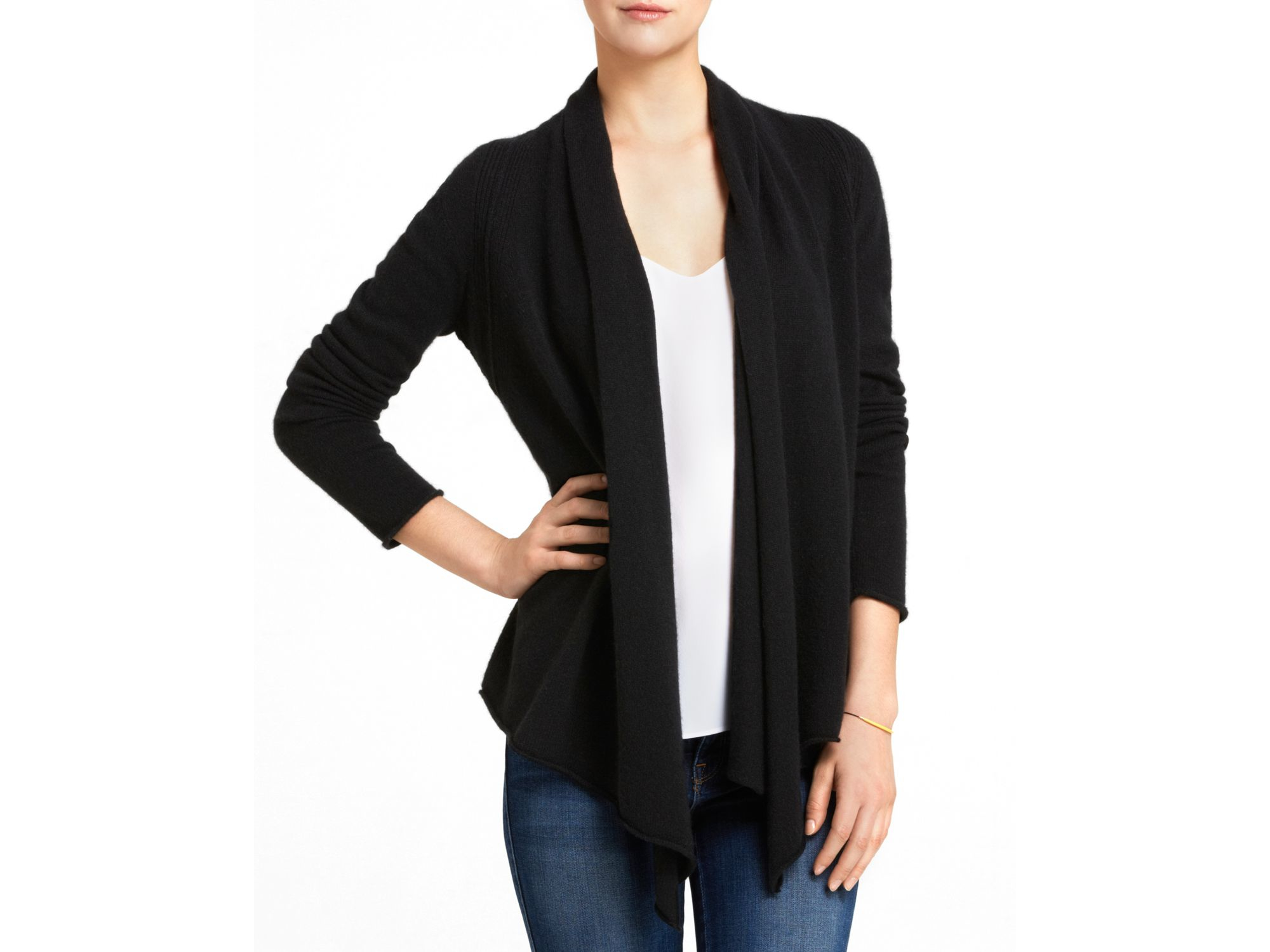 black cardigan jayde drapes with pockets products drape hooded blk laila