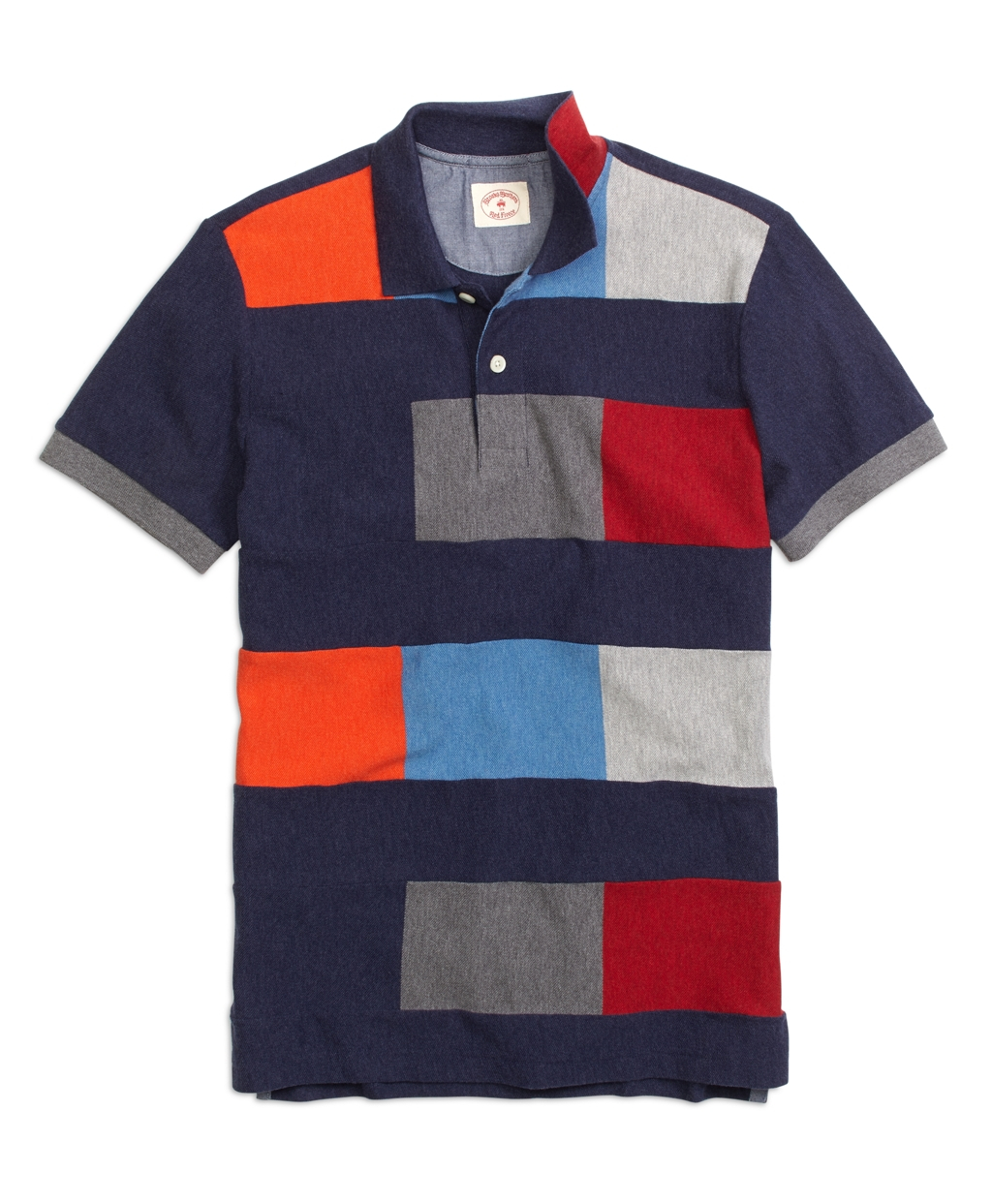 Brooks brothers color block polo shirt in blue for men lyst for Polo color block shirt