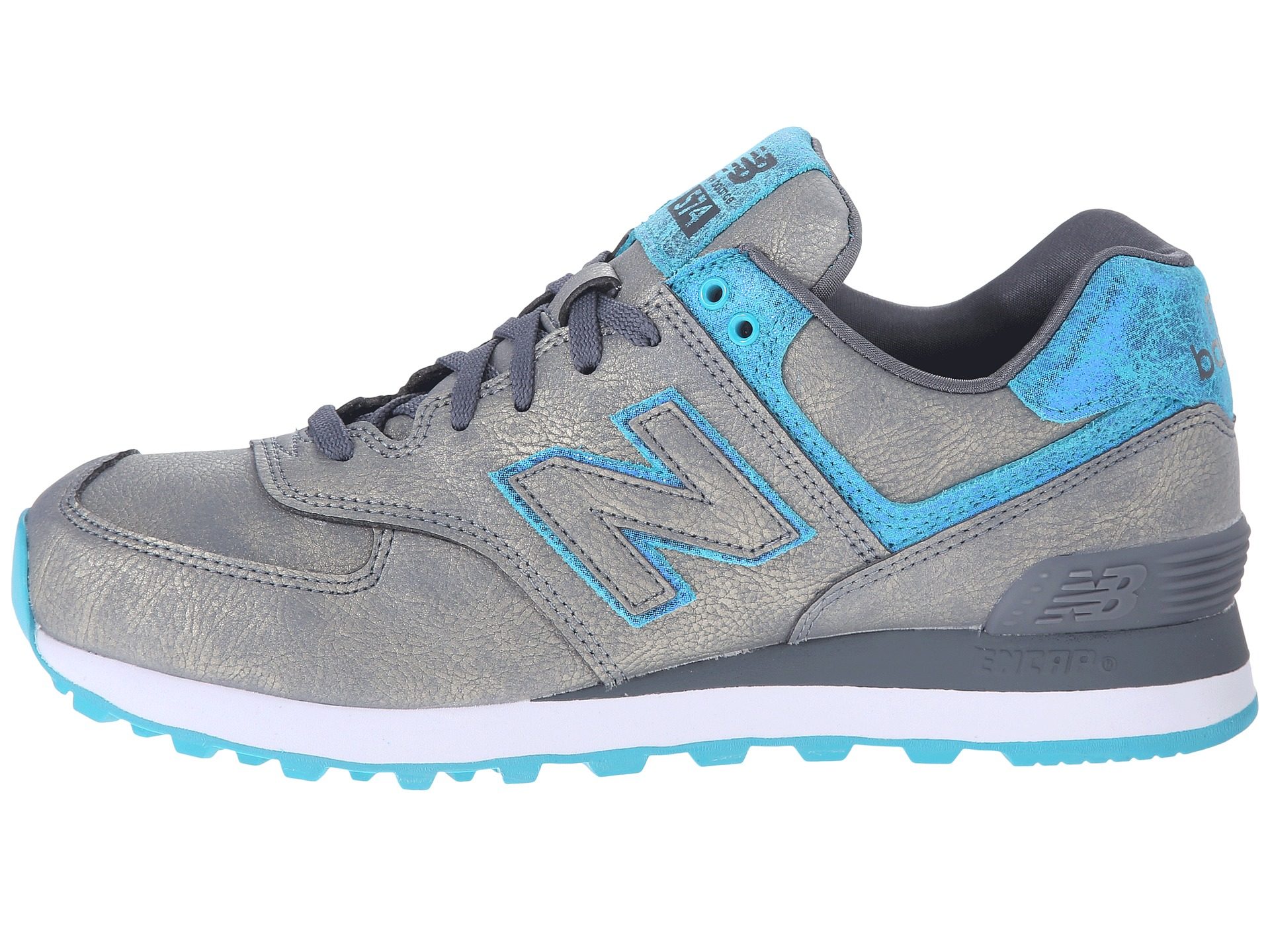 new balance wl574 pgr gris turquoise