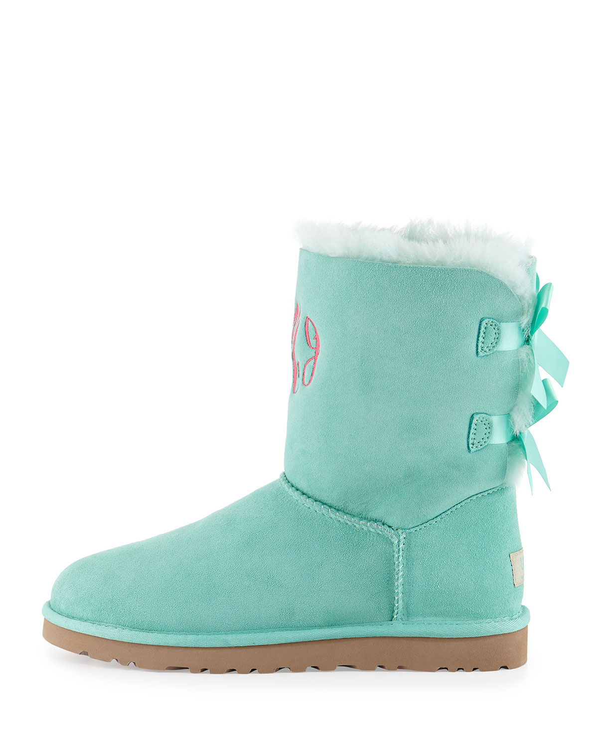 8a81f346a95 UGG Blue Bailey Bow-Back Short Boot