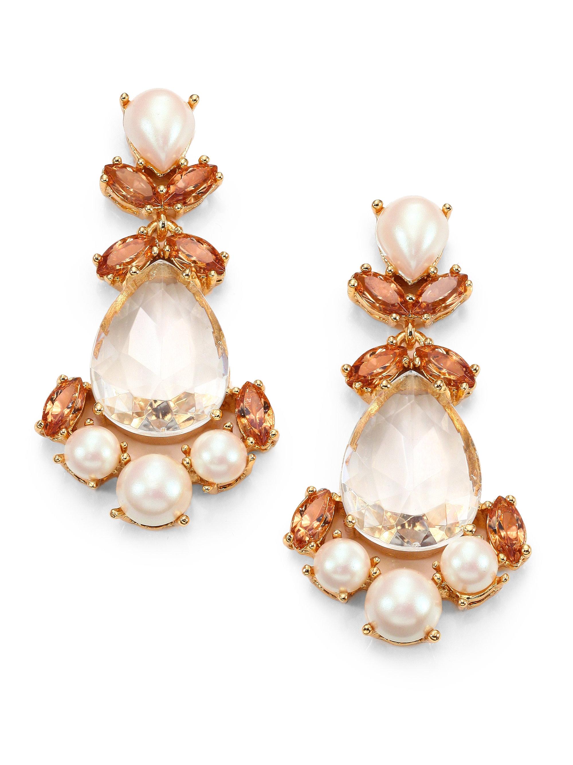 Lyst kate spade new york kate spade earrings chandelier earrings gallery arubaitofo Gallery