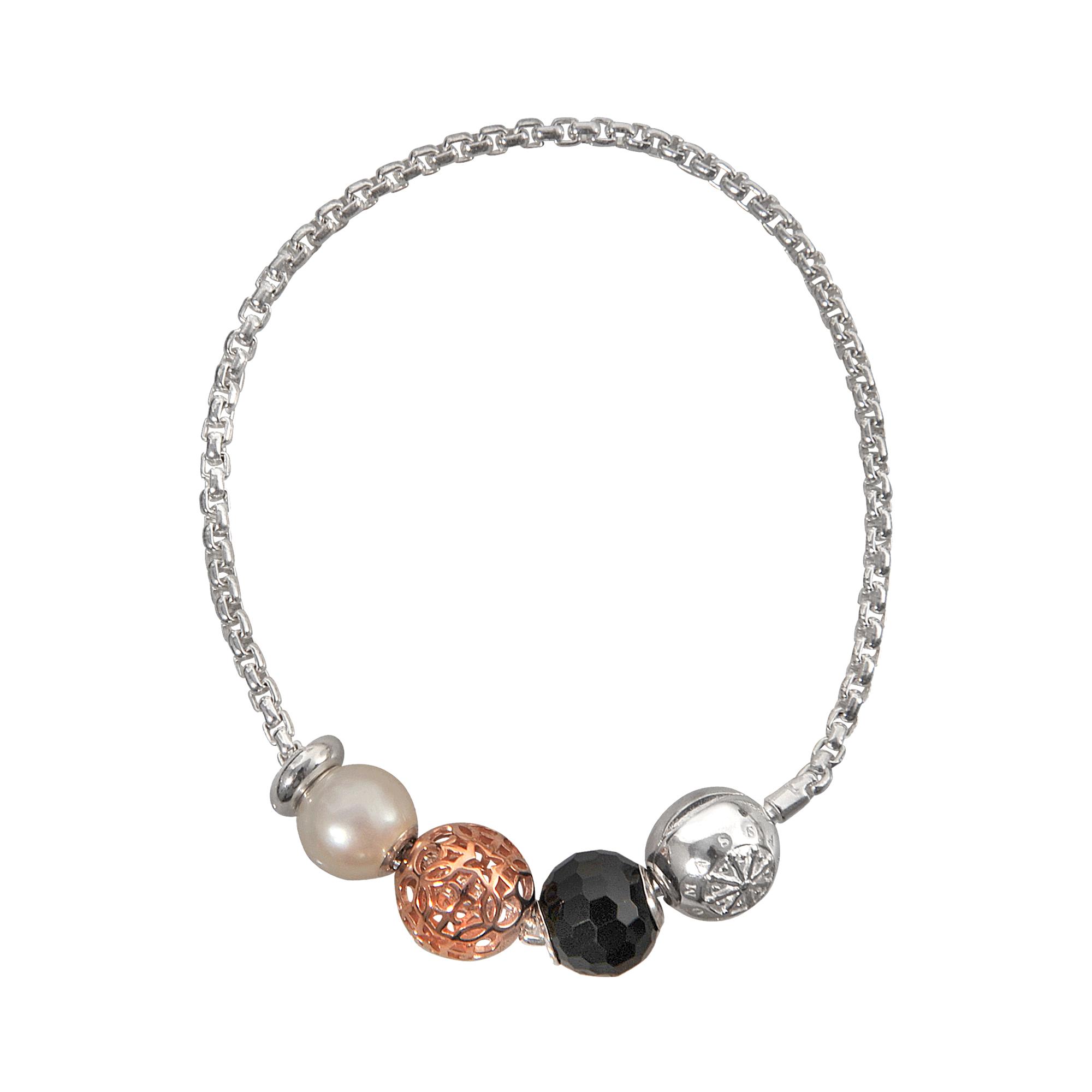 Lyst Thomas Sabo Karma Beads Quartet Bracelet In Metallic