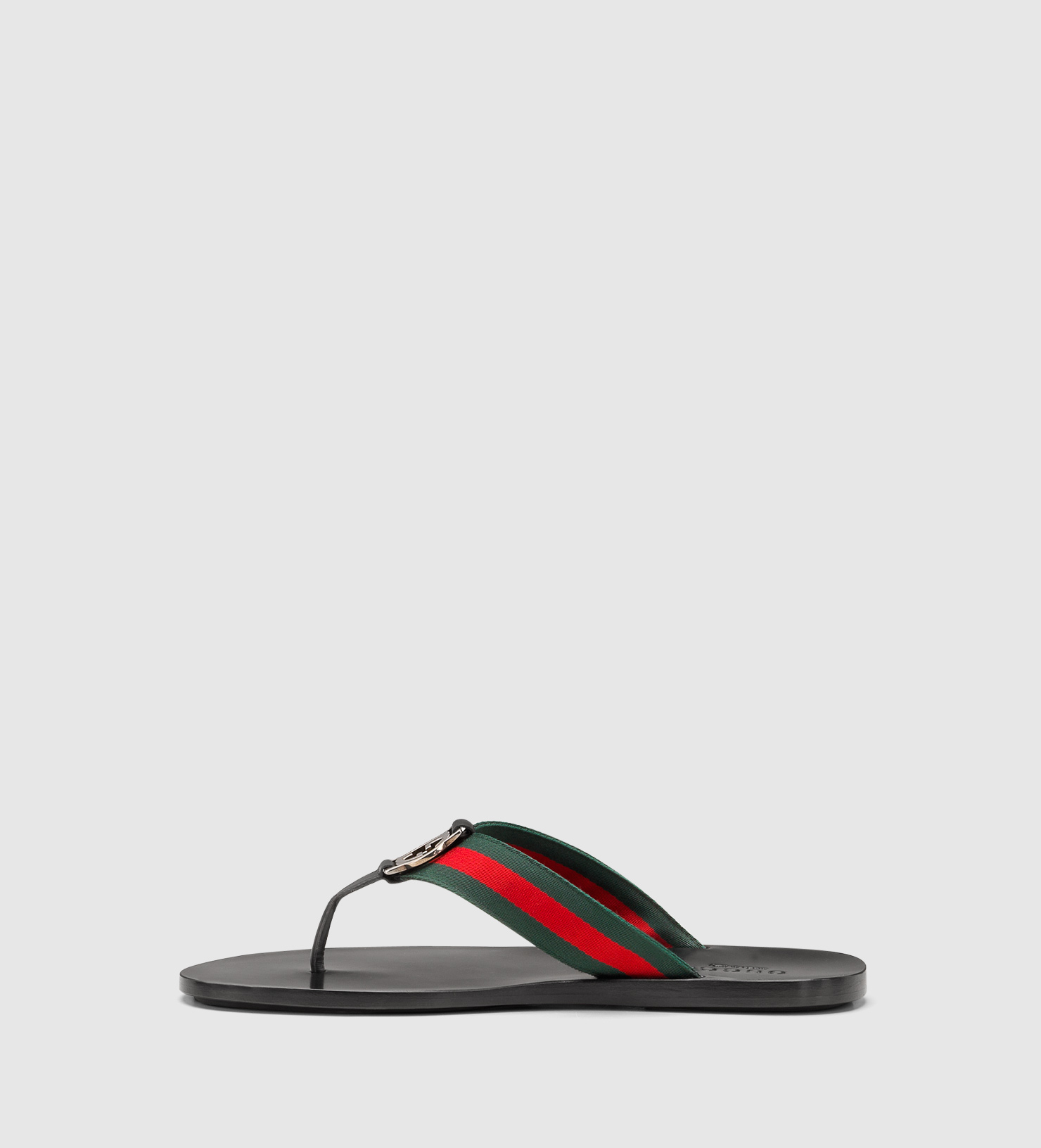 4a1d65f096a3 Lyst - Gucci Signature Web Thong Sandal in Red for Men