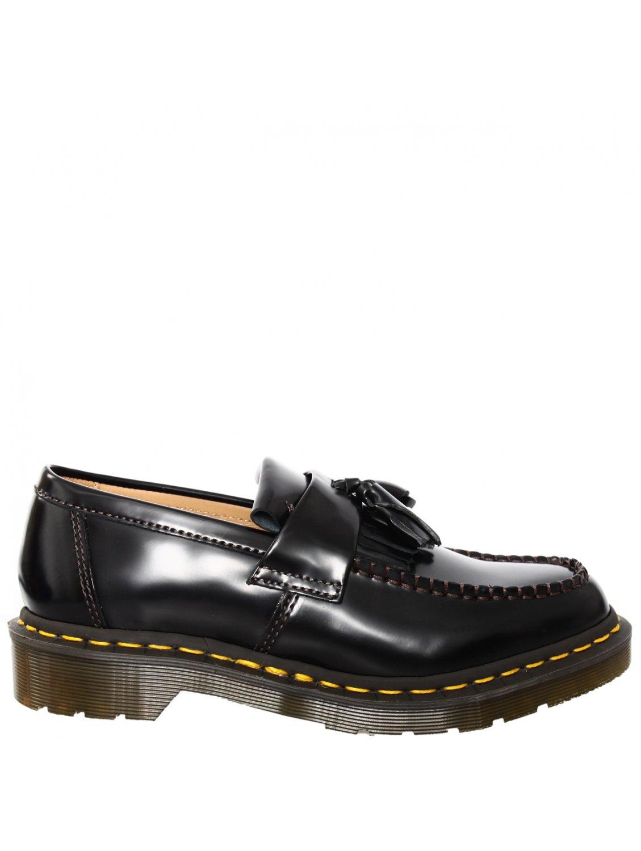 Comme Des Gar 231 Ons Patent Leather Tassel Loafer Black In